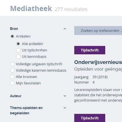 Digitale mediatheek voor Kennisbasis en TvL