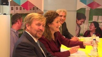 Koning Willem-Alexander in gesprek over lerarentekort